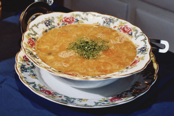 Golden Goose Soup with Pearl Barley